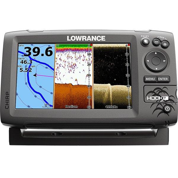 Эхолот-картплоттер Lowrance Hook-7 Mid/High/DownScan™