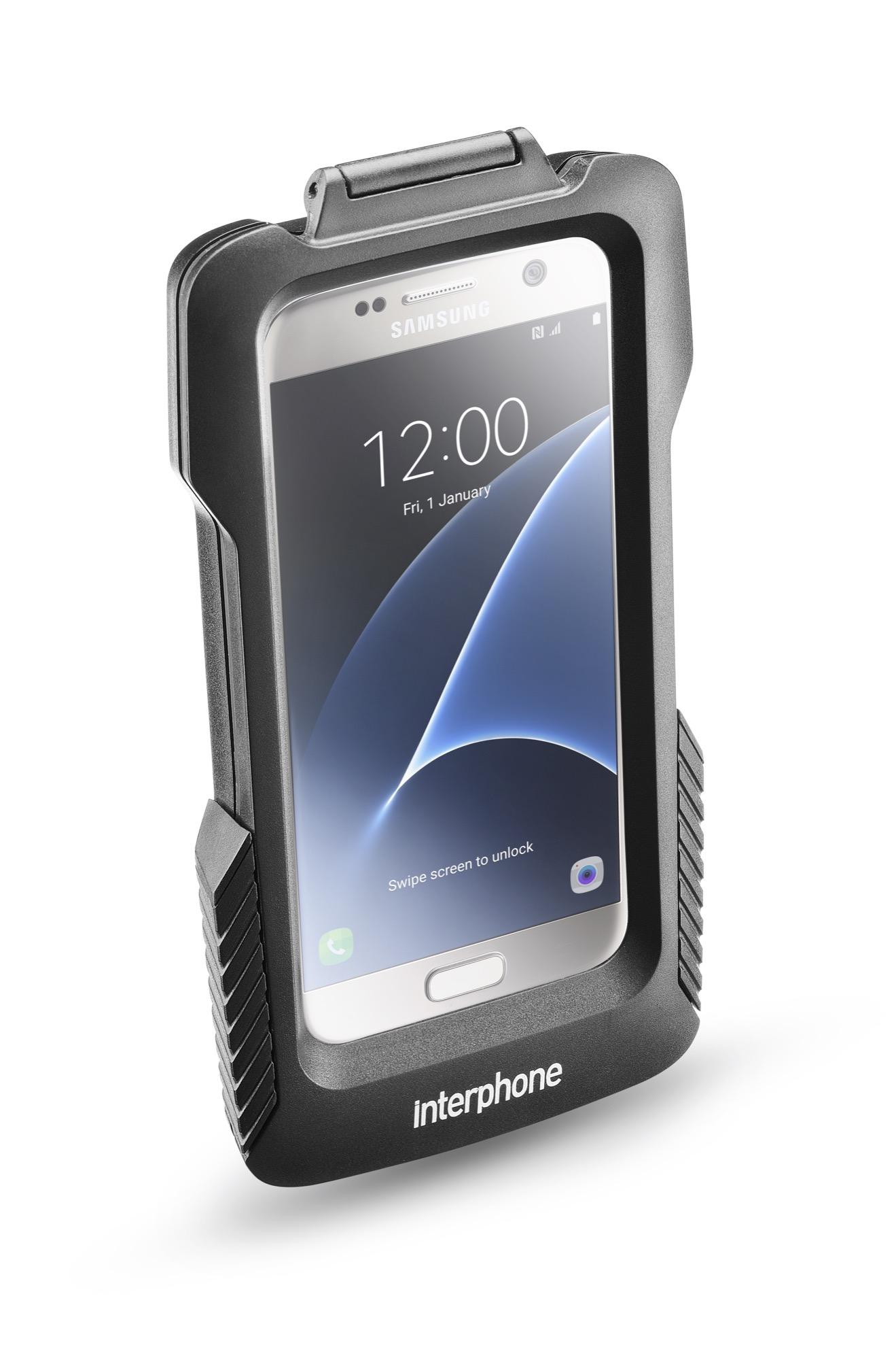 Держатель Interphone Samsung Galaxy S7/S6/S6 EDGE на нетрубчатый руль мотоцикла, скутера SSCGALAXY6