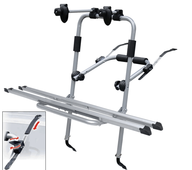 Menabo LOGIC стальной, для двух велосипедов с механизмом натяжки