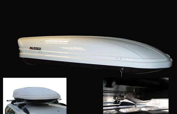 Бокс на крышу Menabo Mania DUO 460 (Белый глянец) двустороннее открытие